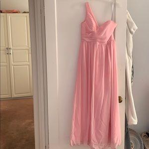 Alfred Angelo Tea Rose Pink Bridesmaid Dress Sz 6